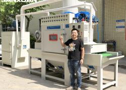 全自喷砂机喷砂机是干什么用的原理结构图动间歇式转盘喷砂机