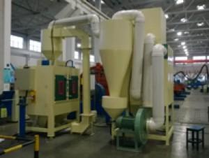 江苏上上电缆集团有限公司在我公司订购一台核电线材专用自动喷砂机